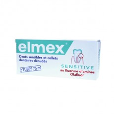 Elmex dentifrice sensitive 2x75ml
