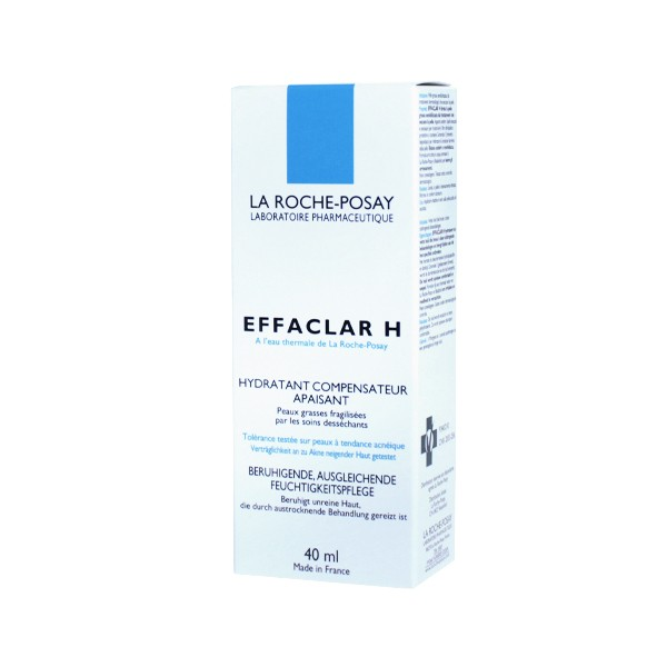 la roche posay effaclar h soin visage hydratant apaisant 40ml. Black Bedroom Furniture Sets. Home Design Ideas