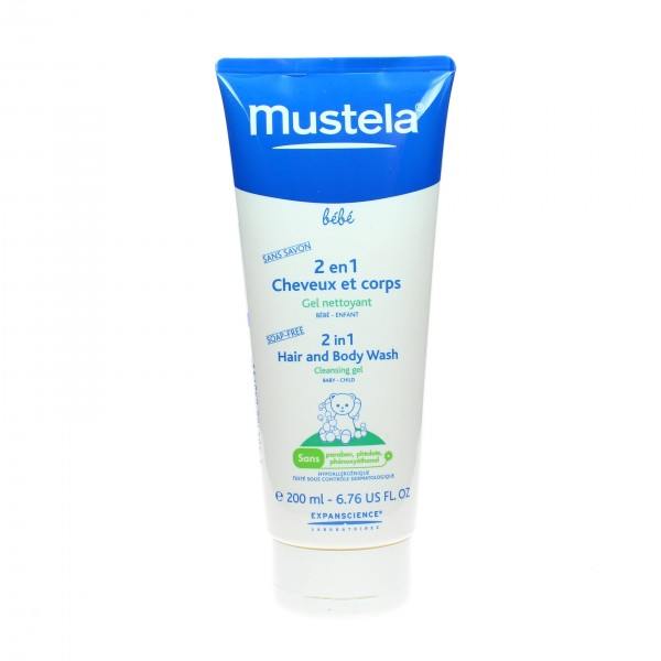 mustela gel douche 2 en 1 b b cheveux et corps 200ml. Black Bedroom Furniture Sets. Home Design Ideas