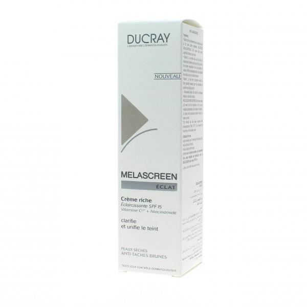 ducray melascreen eclat soin claicissant visage cr me riche 40ml. Black Bedroom Furniture Sets. Home Design Ideas
